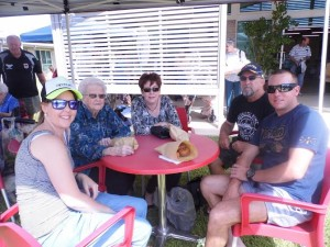 Karley Ward, June Stanley, Maree, Brian and Adam Currey