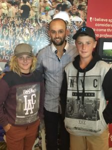 Talis and Toby with Nathan Lyons