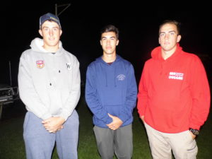 Mitchell Andrews, Charlie Staines and Matt Nicholson.