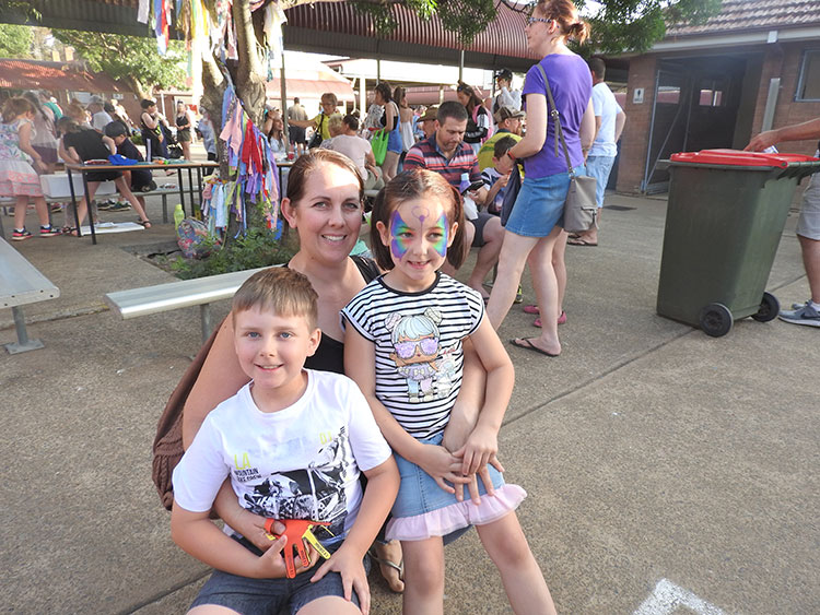 Nikki, Lockie and Arlie Baker took in all the Spring Fair had to offer.